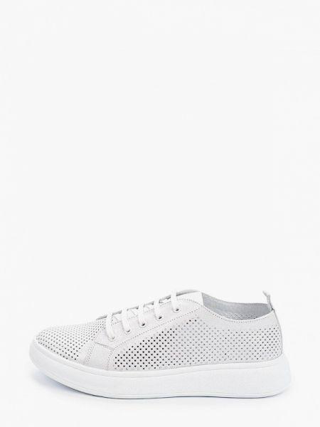 Серебряные кроссовки из натуральной кожи Nexpero