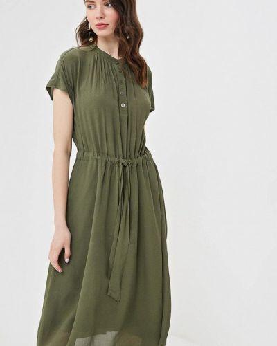 Платье прямое зеленый Lusio
