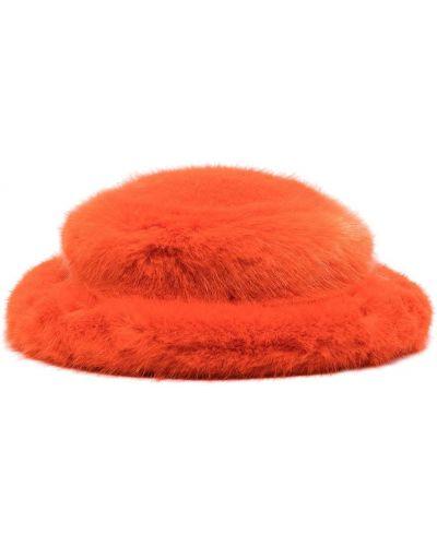 Pomarańczowy kapelusz bawełniany Emma Brewin