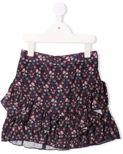 Spódnica w kwiaty - fioletowa Miss Grant Kids