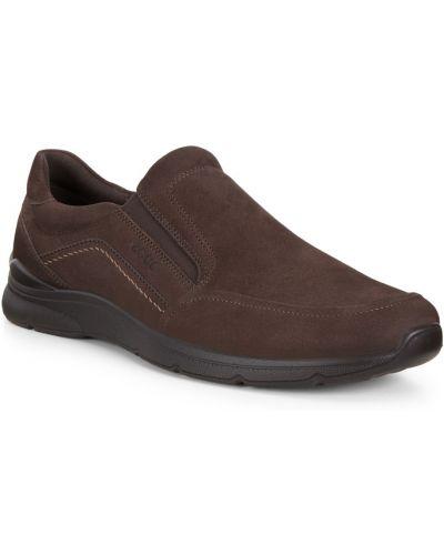 Коричневые кожаные полуботинки Ecco