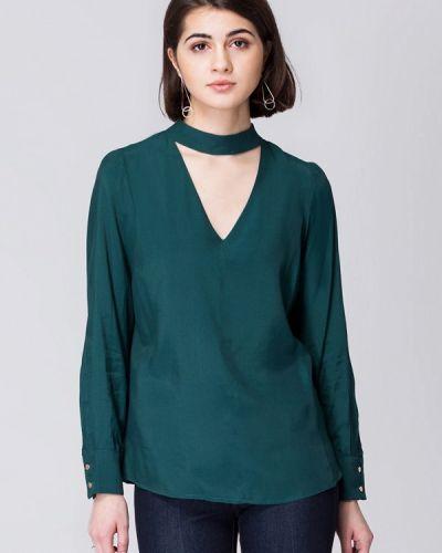 Зеленая блузка осенняя Vilatte