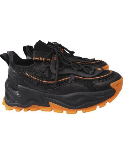 Кожаные кроссовки - черные Arees Meniwa