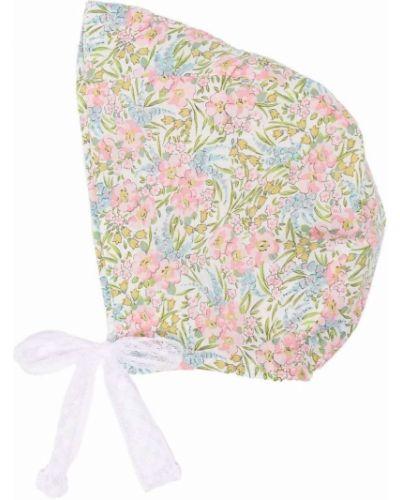 Różowy kapelusz bawełniany w kwiaty Violeta E Federico