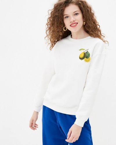Белый свитшот Trendyol