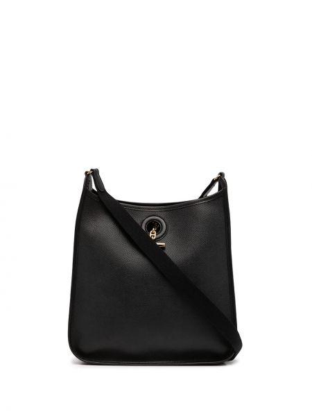 Черная сумка золотистая Hermès
