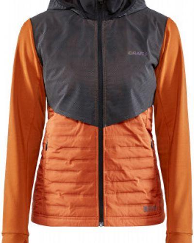 Оранжевая куртка на молнии с капюшоном Craft