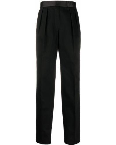 Prosto czarny bawełna bawełna spodnie w paski z boku Alexander Wang