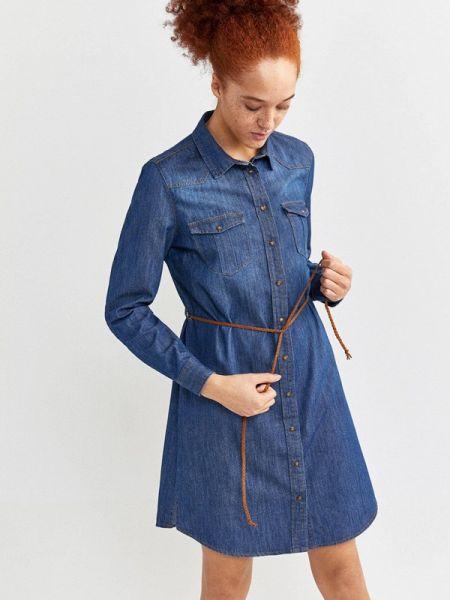 Джинсовое платье синее весеннее Springfield