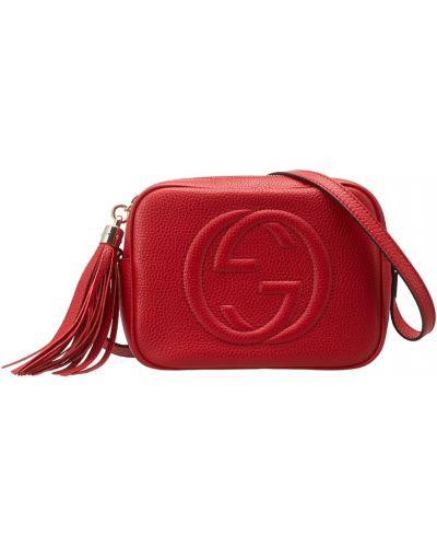 Кожаный сумка с кисточками с логотипом Gucci