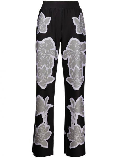 Czarne spodnie z printem Ultracor