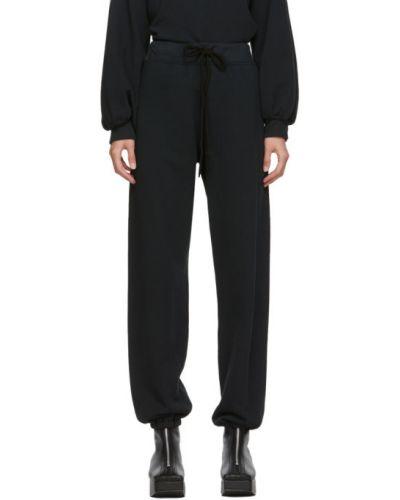 Махровые черные брюки с манжетами Raquel Allegra