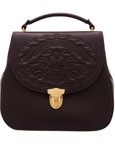Кожаная сумка через плечо на плечо Ulyana Sergeenko