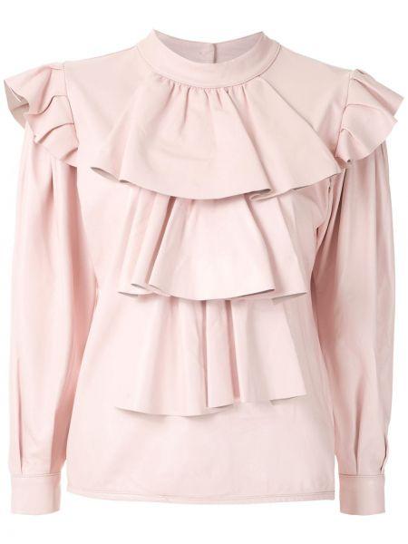 Блузка с длинным рукавом с рюшами на пуговицах Andrea Bogosian