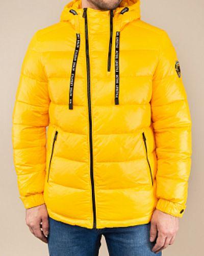 Прямой желтый пуховик с капюшоном Snowimage