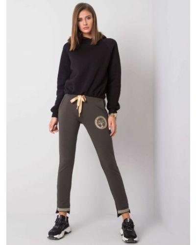 Dres bawełniany - khaki Fashionhunters