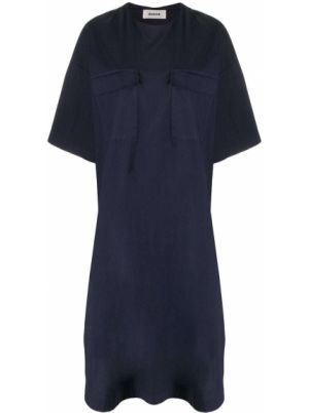 Платье мини короткое - синее Zucca
