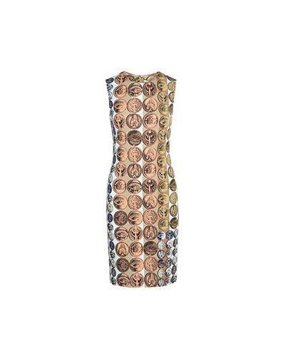 Деловое платье бежевое Roberto Cavalli