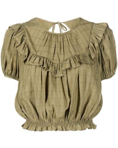 Хлопковая блузка - зеленая Cinq À Sept