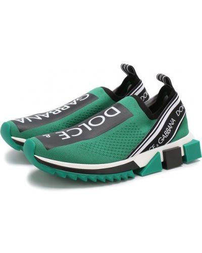 Зеленые кроссовки Dolce & Gabbana