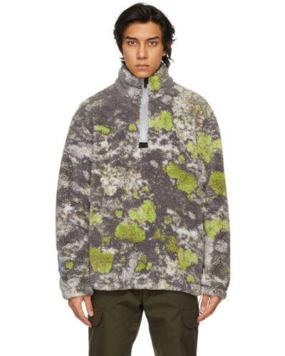 Трикотажный черный длинный свитер с воротником Mcq