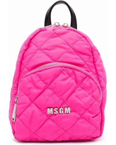Różowy plecak pikowany Msgm Kids