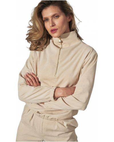 Beżowa bluza z długimi rękawami Figl