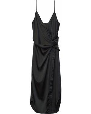 Шелковое платье миди на бретелях с драпировкой Alexander Wang