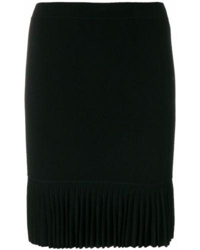 Плиссированная юбка с завышенной талией мини льняная Alexander Wang