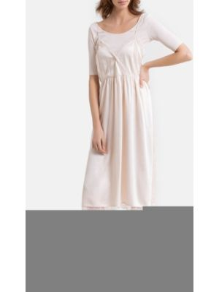 Платье миди футболка на бретелях La Redoute
