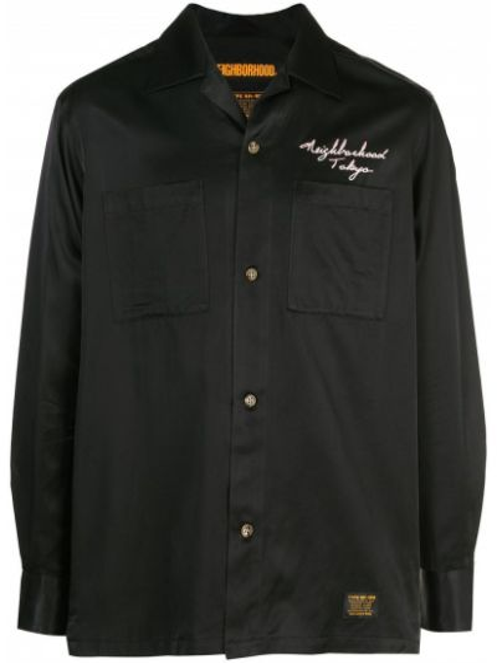 Koszula z długim rękawem długa czarna Neighborhood