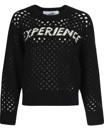 Акриловый черный свитер Iro