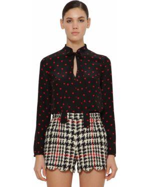 Блузка с воротником-стойкой с завязками Red Valentino