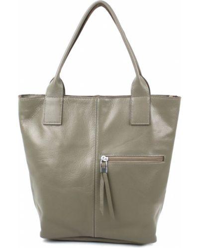 Кожаная сумка - коричневая Borsacomoda