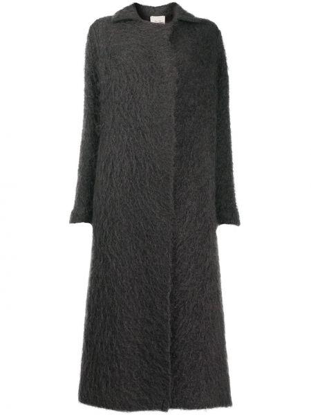 Вязаное серое шерстяное пальто Alysi