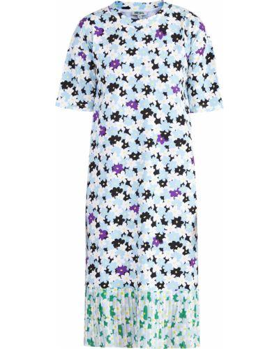 Платье с цветочным принтом прямое Kenzo