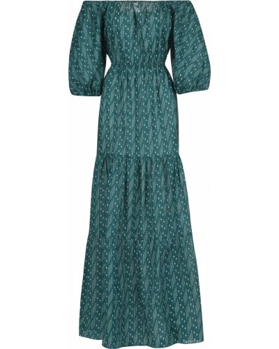 Хлопковое платье - зеленое Bagutta