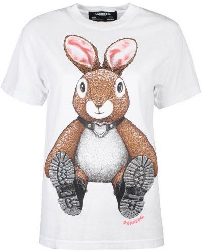 T-shirt oversize z printem Domrebel