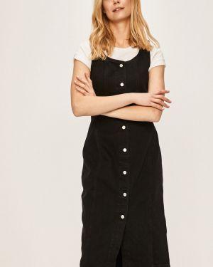 Коричневое платье мини с вырезом на пуговицах Levi's®