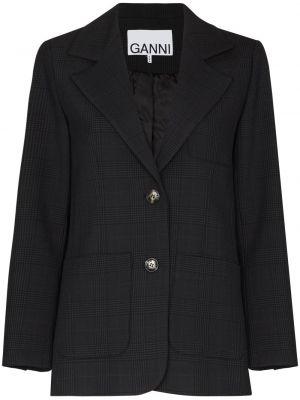С рукавами удлиненный пиджак в клетку с карманами Ganni