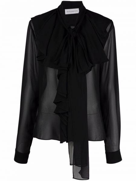 Блузка на пуговицах - черная Faith Connexion