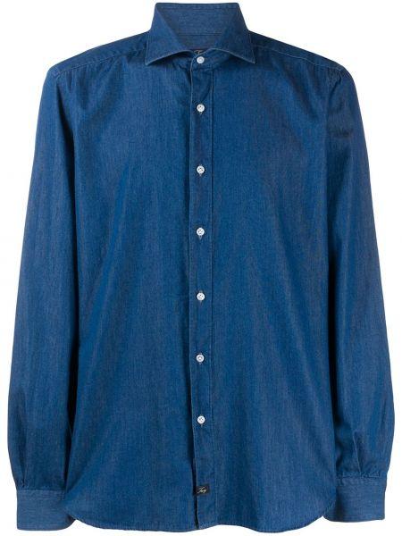 Koszula z długim rękawem klasyczna dżinsowa Fay