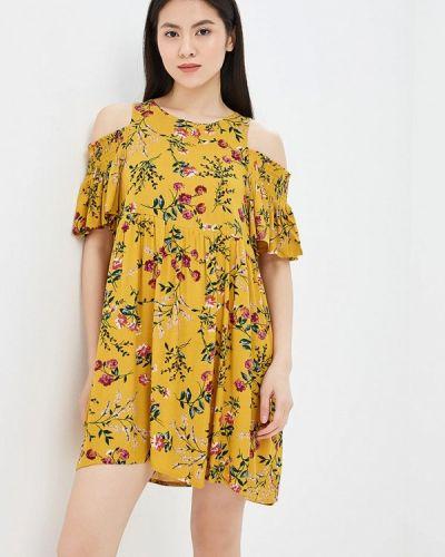 Желтое платье весеннее Glamorous