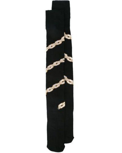 Черные вязаные носки Dilara Findikoglu