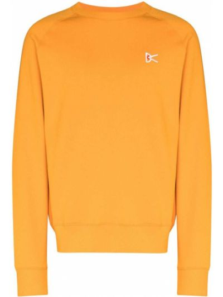 Pomarańczowa bluza długa z długimi rękawami bawełniana District Vision