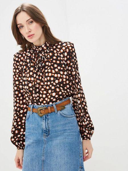 Блузка с длинным рукавом весенний черная Villagi