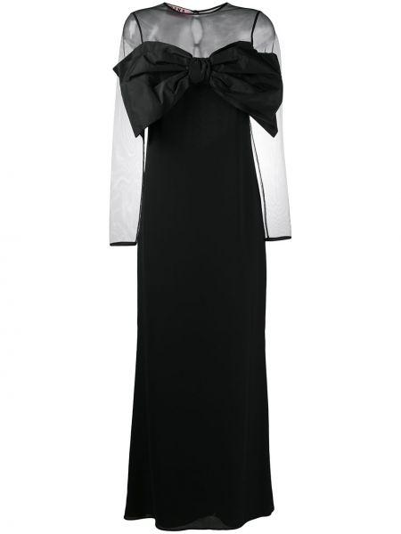 Черный бантик с длинными рукавами Gina