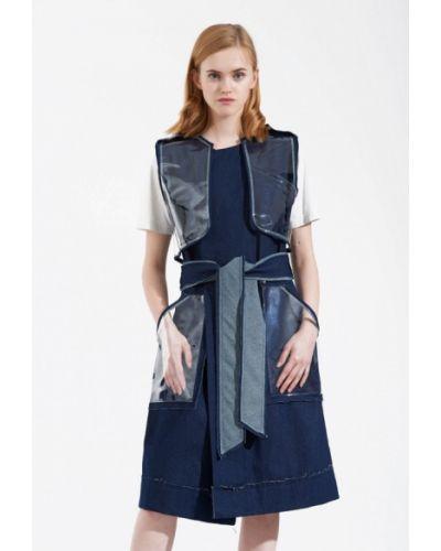 Платье весеннее синее W8less