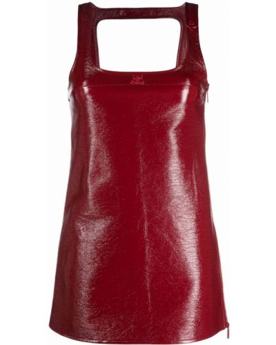 Платье трапеция - красное Courrèges