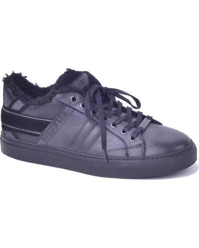 Черные кроссовки с мехом Richmond